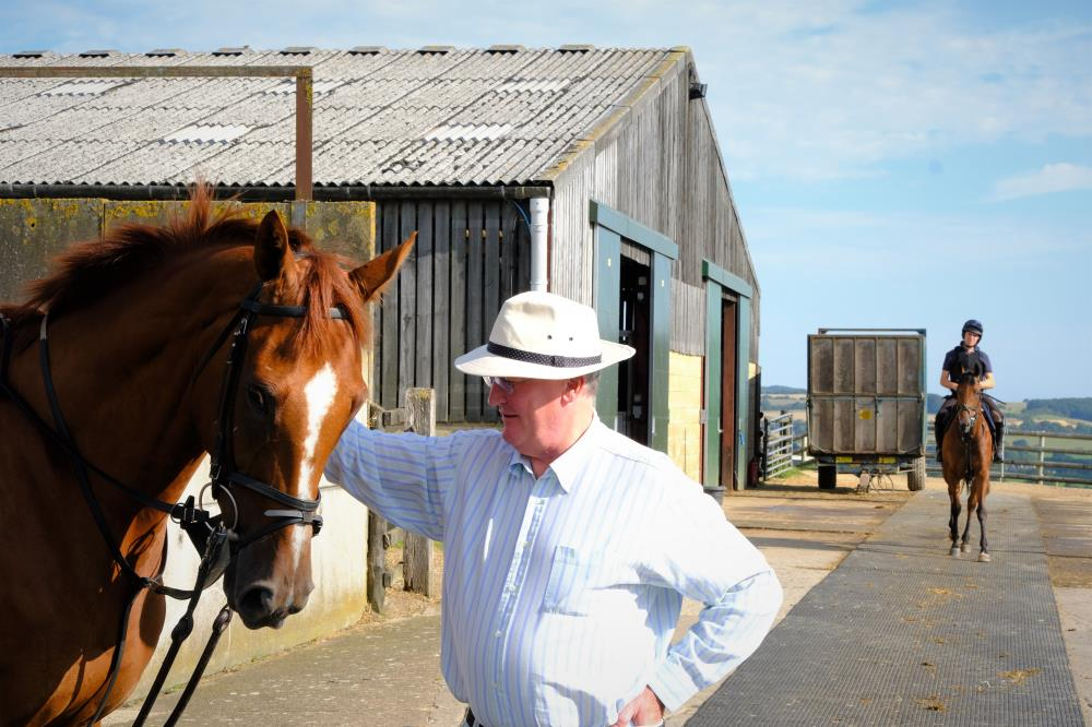 Peter Bennet-Jones with his horse Prince Llywelyn
