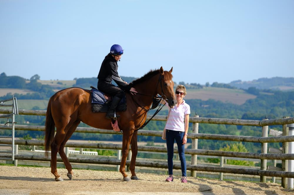 Sue Maine with her horse Shinobi..